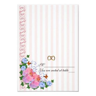 """El acompañamiento carda orquídeas rosadas invitación 3.5"""" x 5"""""""