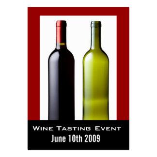 El acontecimiento de la degustación de vinos mini tarjetas de visita grandes