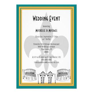 El acontecimiento del boda de New Orleans invita Comunicado Personalizado
