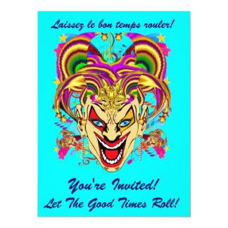El acontecimiento del carnaval del carnaval ve por invitación 16,5 x 22,2 cm
