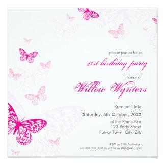 """EL ACONTECIMIENTO ESPECIAL INVITA:: mariposas 1SQ Invitación 5.25"""" X 5.25"""""""