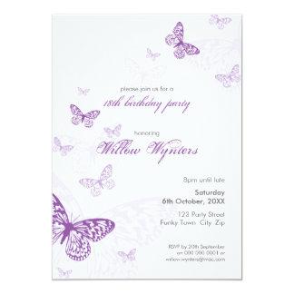 """EL ACONTECIMIENTO ESPECIAL INVITA:: mariposas 3P Invitación 5"""" X 7"""""""
