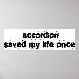 El acordeón ahorró mi vida una vez impresiones