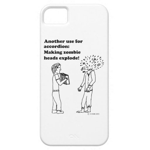 El acordeón hace que los zombis estallan iPhone 5 Case-Mate fundas