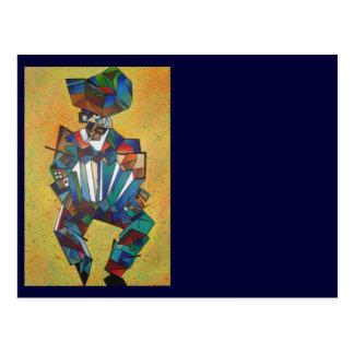 El acordeonista tarjeta postal