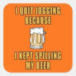 El activar de la cerveza pegatinas cuadradas personalizadas