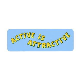El Active es etiqueta ligera atractiva Etiqueta De Remite