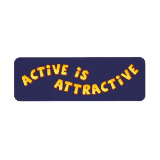 El Active es etiqueta oscura atractiva Etiqueta De Remite