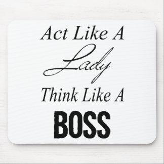 El acto como una señora piensa como Boss Tapete De Raton