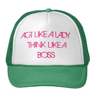 el acto como una señora piensa como un jefe gorro