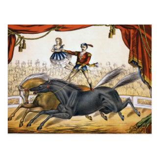 El acto del dos-caballo tarjeta postal