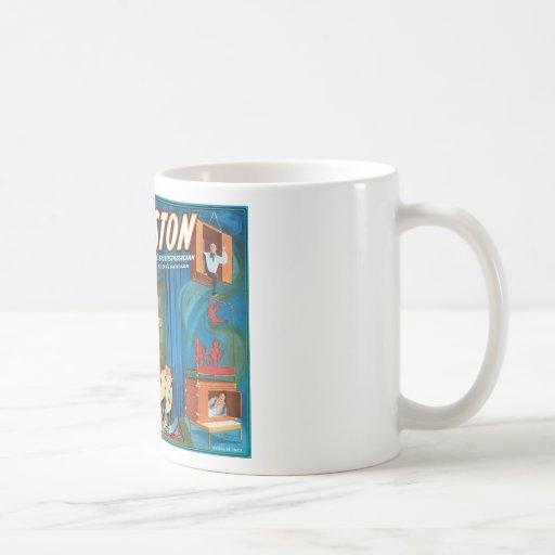 El acto más grande del vintage del ~ del mago del  tazas de café