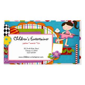 El actor de los niños tarjetas de visita
