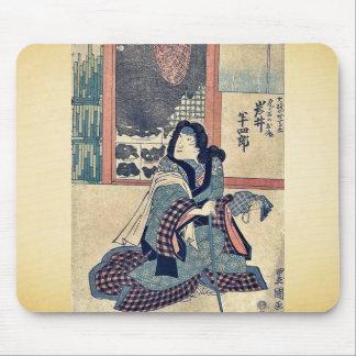 El actor Iwai Hanshiro por Utagawa, Toyokuni Alfombrillas De Ratones
