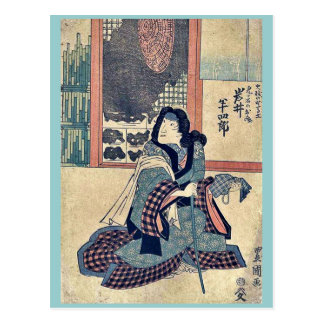 El actor Iwai Hanshiro por Utagawa, Toyokuni Postal