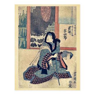 El actor Iwai Hanshiro por Utagawa, Toyokuni Tarjetas Postales