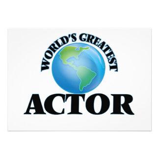 El actor más grande del mundo comunicado personal