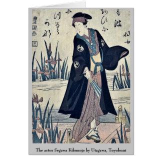 El actor Segawa Kikunojo por Utagawa, Toyokuni Tarjeton