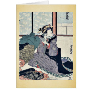 El actor Segawa Kikunojo V por Utagawa, Toyokuni Tarjeton