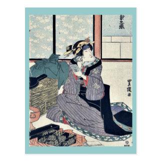 El actor Segawa Kikunojo V por Utagawa, Toyokuni Tarjeta Postal