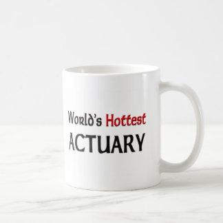 El actuario más caliente de los mundos tazas