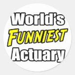 El actuario más divertido del mundo etiquetas redondas