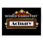El actuario más grande del mundo tarjeta de felicitación