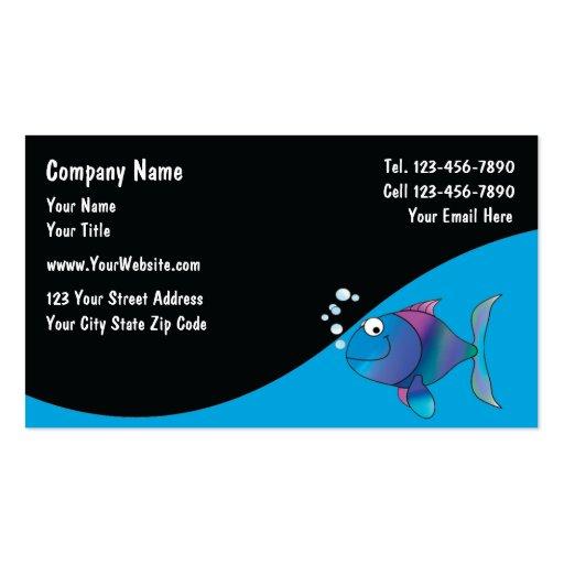 El acuario marino mantiene tarjetas tarjeta de visita