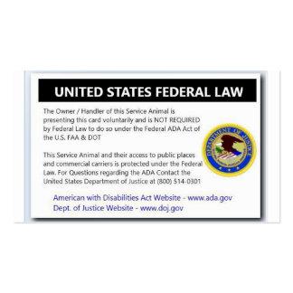 El ADA mantiene tarjetas del folleto de la ley del Tarjetas De Visita
