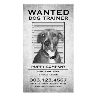 el adiestrador de perros quiso el poster tarjetas de visita