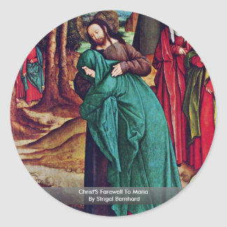 El adiós de Cristo a Maria de Strigel Bernhard Etiquetas Redondas