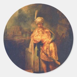 El adiós de David a Jonatán de Rembrandt Etiquetas