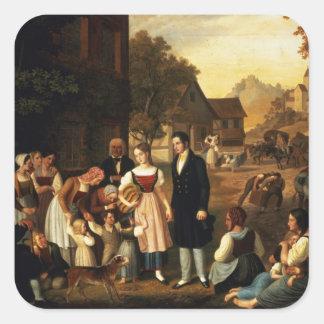 El adiós de Dorothea, Hermann de Goethe de 'y hace Pegatinas Cuadradases