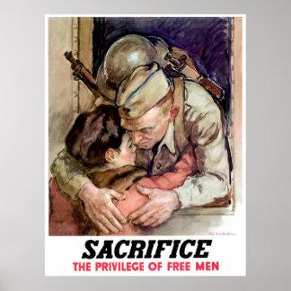 El adiós de un soldado póster