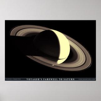 El adiós del viajero a Saturn Poster