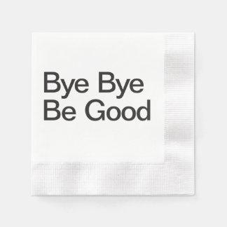 El adiós sea bueno servilletas de papel