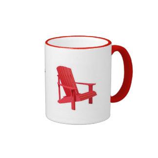 El Adirondacks está llamando - silla de Adirondack Taza De Dos Colores