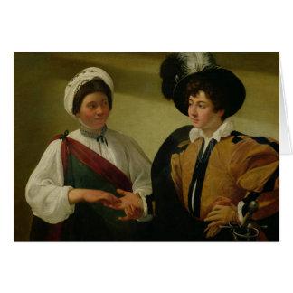 El adivino, c.1596-97 tarjeta de felicitación