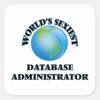 El administrador de la base de datos más atractivo calcomanías cuadradas personalizadas