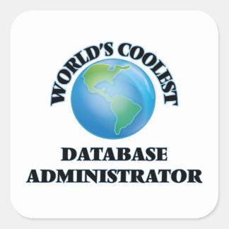 El administrador de la base de datos más fresco calcomania cuadradas