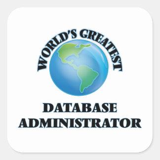 El administrador de la base de datos más grande calcomanías cuadradass