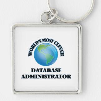 El administrador de la base de datos más listo del llavero cuadrado plateado