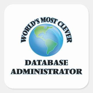 El administrador de la base de datos más listo del calcomanías cuadradases