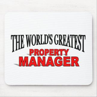 El administrador de la propiedad más grande del mu alfombrillas de raton