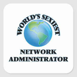 El administrador de la red más atractivo del mundo pegatina cuadradas