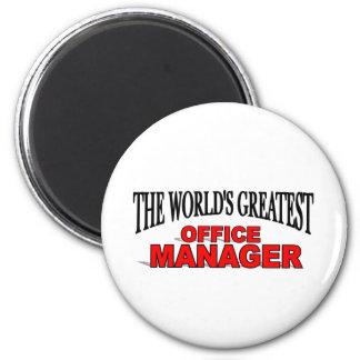 El administrador de oficinas más grande del mundo imán redondo 5 cm