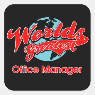 El administrador de oficinas más grande del mundo pegatina cuadrada