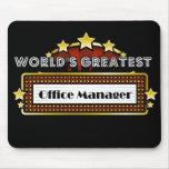 El administrador de oficinas más grande del mundo alfombrilla de ratón