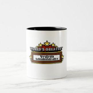 El administrador del sistema más grande del mundo tazas de café