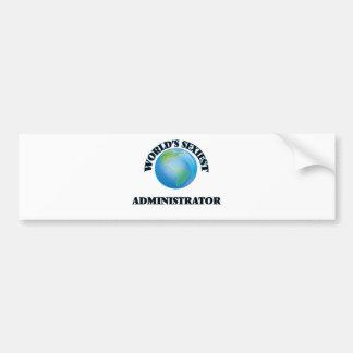 El administrador más atractivo del mundo etiqueta de parachoque